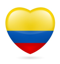 Heart icon of Colombia vector
