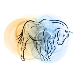 horse on the abstract background vector image vector image