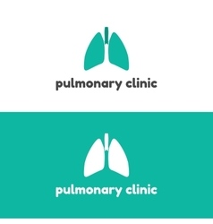 Human lungs logo design template vector image