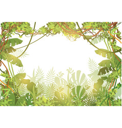 jungle tropical background rainforest with tropic vector image
