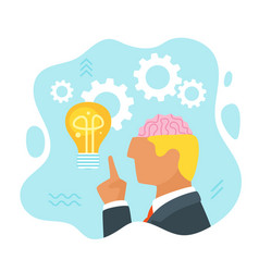 man having an idea vector image