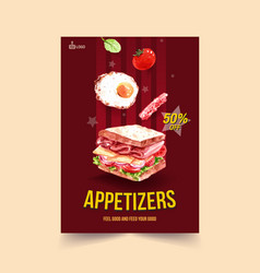 Menu template with cooking design for food shop vector