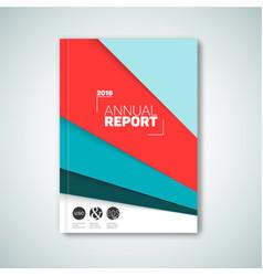 modern abstract brochure book flyer vector image vector image