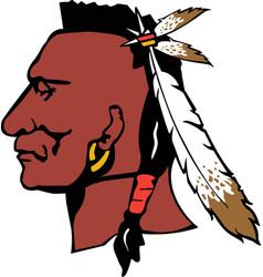 Mohawk logo mascot vector