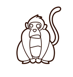 Monkey cartoon graphic vector