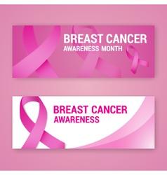 National breast cancer awareness banner vector