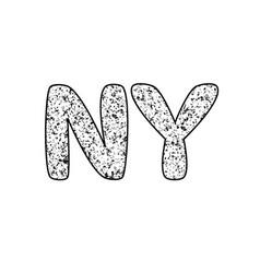 Ny logo new york logo grunde logo vector