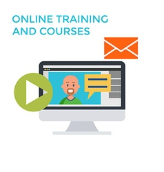 Online Training Courses Icon Flat design Monitor vector