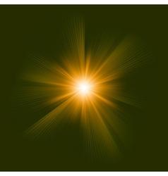 Orange color design with a burst EPS 8 vector image vector image