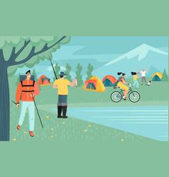 outdoor activities people vector image
