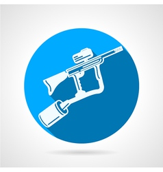Paintball rifle round icon vector image