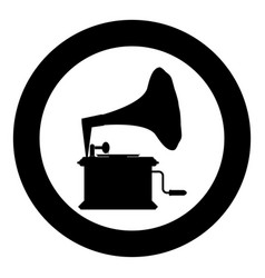 phonograph gramophone vintage turntable for vinyl vector image