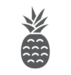 Pineapple glyph icon fruit and ananas vector