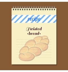 Recipe Book Twisted Bread vector