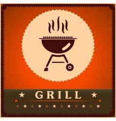 Retro Grill Menu Card Design template poster vector image