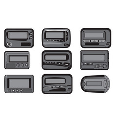 reyro gadgets vintage pagers collection set vector image