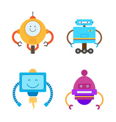 Robots collection types set vector