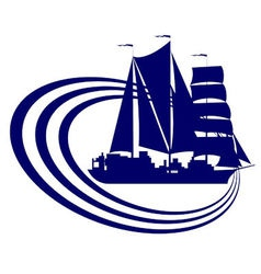 Sailing ship 9 vector