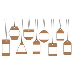 sale tags labels discounts vector image