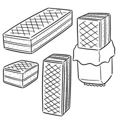 Set of wafers vector