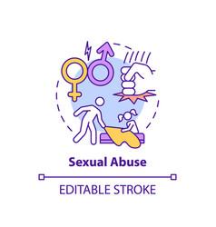 Sexual abuse concept icon vector