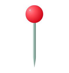 Sharp pin icon isometric style vector
