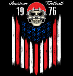 Skull in a helmet to play american football vector