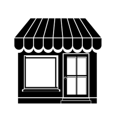small store icon image vector image