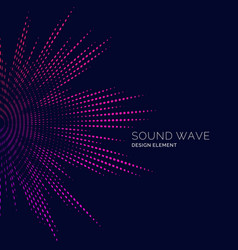 Sound wave on dark background vector