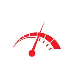 speedometer logo design template vector image