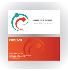 swirl dot connection trchnology business card vector image