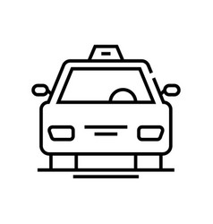 taxi services line icon concept sign outline vector image