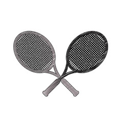 Tennis rackets sport game vector