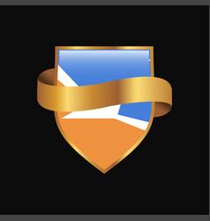 Tierra del fuego province argentina flag golden vector