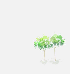 Tree design in water color style vector