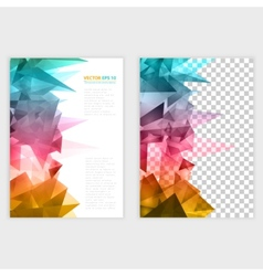 Triangles pattern background vector