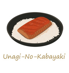 Unagi kabayaki icon cartoon style vector