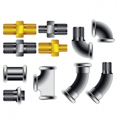 Water pipe connectors vector