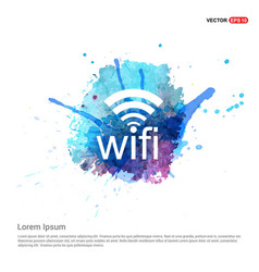 Wifi icon - watercolor background vector
