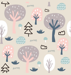 wood nature seamless pattern vector image
