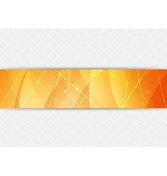 Orange bright hi-tech background vector image vector image