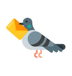 flat style of post pigeon vector image vector image