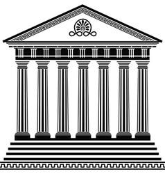 Greec temple2 vector image vector image