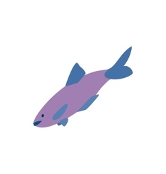 Salmon fish icon isometric 3d style vector image vector image