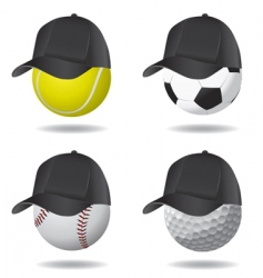 sport ball with hat vector image vector image