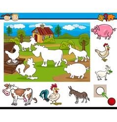 task for preschool children vector image