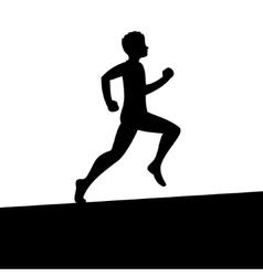 Men running silhouette vector