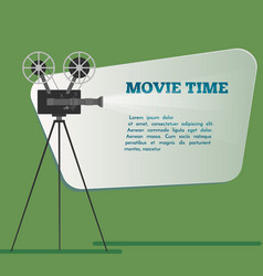 movie time poster cartoon vector image
