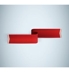 red textured ribbon vector image