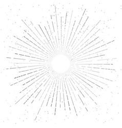 retro vintage hand drawn sunburst star flare vector image vector image
